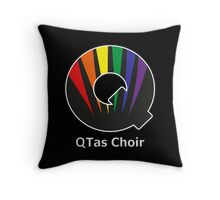 QTas Choir Logo (official choir performance shirt)  Throw Pillow