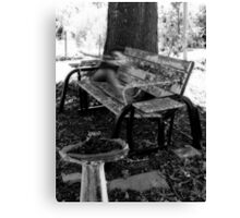 Haunted Bench Canvas Print