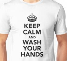 Keep Calm and Wash Your Hands - Black Unisex T-Shirt
