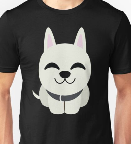 White German Shepherd Emoji Delighted Look Unisex T-Shirt