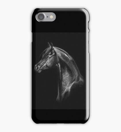 Arabian Horse Head Drawing iPhone Case/Skin