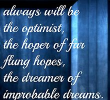 Dreamer of Improbable Dreams - 11th Doctor quote by doccompanion