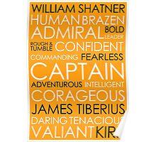Star Trek - Kirk Text Poster