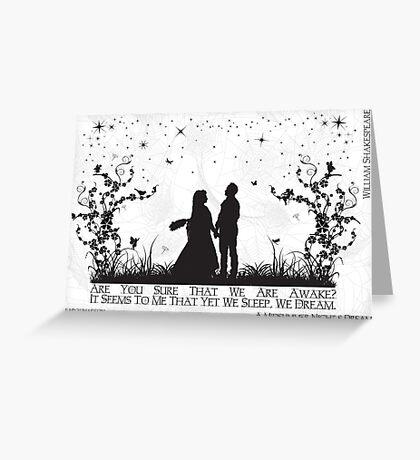 A Midsummer Night's Dream Greeting Card