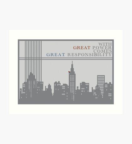 Spider-man New York Skyline Quote Art Print