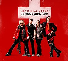 Artificial Agent - Brain Grenade POSTER by spacevampire