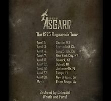 Old Gods of Asgard: Ragnarock Tour Poster by Alexander Bricoli