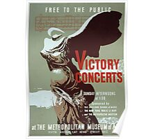 WPA United States Government Work Project Administration Poster 0395 Victory Concerts Metropolitan Museum of Art Poster