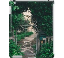 Leafy gate with a bicycle wheel decoration iPad Case/Skin