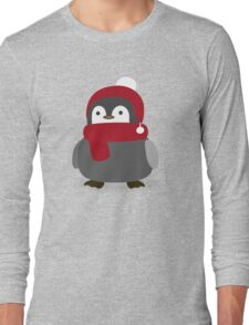 Cute Winter Penguin  Long Sleeve T-Shirt