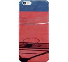 Shadow on a Basketball Court iPhone Case/Skin
