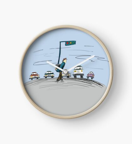 Pedestrian and It's Portable traffic light Clock