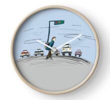 Pedestrian and It's Portable traffic light Clock