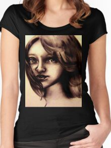 A childs Innocence Women's Fitted Scoop T-Shirt