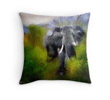 Uganda: Slick Ivory Throw Pillow