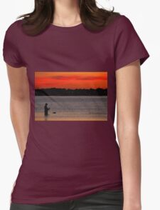 Fishing at Sunset off Beach Road T-Shirt