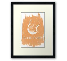 Game Over Charizard Framed Print