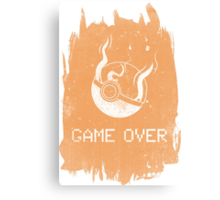 Game Over Charizard Canvas Print