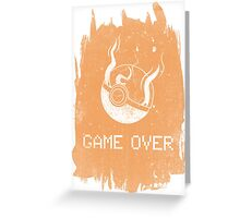 Game Over Charizard Greeting Card