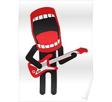 loud singing guitarist  Poster