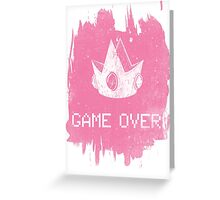 Game Over Princess Peach Greeting Card