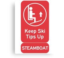 Ski Tips Up! It's time to ski! Steamboat! Canvas Print