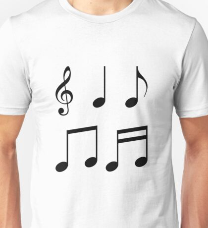 music notes music Unisex T-Shirt