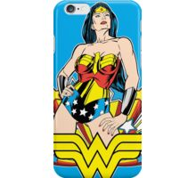 Wonder Woman on Blue iPhone Case/Skin