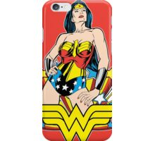 Wonder Woman on Red iPhone Case/Skin