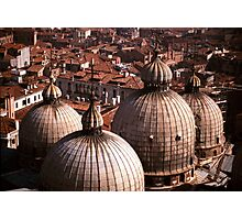 Domes of San Marco, Venice Photographic Print
