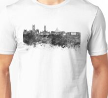 Bolton skyline in black watercolor Unisex T-Shirt