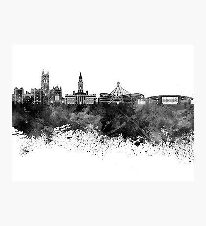 Bolton skyline in black watercolor Photographic Print