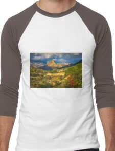 A view to the mountains  Men's Baseball ¾ T-Shirt