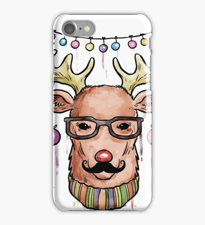 Deer Merry Christmas and Happy new year iPhone Case/Skin