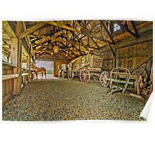 He`s In The Barn Poster