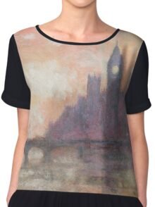 Thames at Westminster Chiffon Top