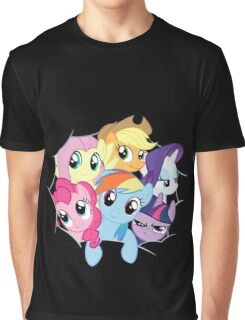 Mane Six Break Out! Graphic T-Shirt