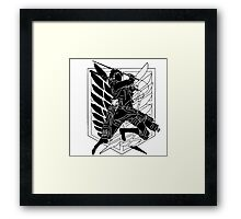 Eren Jeager of Recognition Team Framed Print