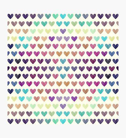 Colorful hearts III  Photographic Print