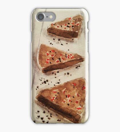 Raw Vegan Chocolate & Raspberry Mousse Pie iPhone Case/Skin