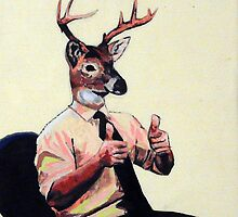 Deer Man, Thumbs Up by sahmwich-art