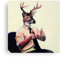 Deer Man, Thumbs Up Metal Print