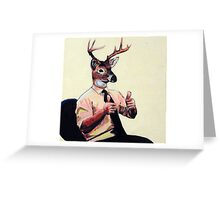 Deer Man, Thumbs Up Greeting Card