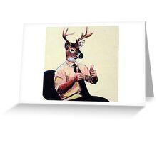 Deer Man, Thumbs Up Greeting Card