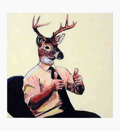 Deer Man, Thumbs Up Photographic Print