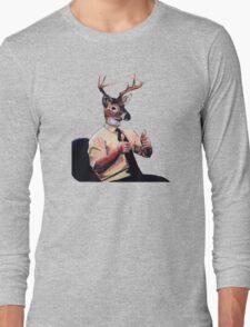 Deer Man, Thumbs Up Long Sleeve T-Shirt