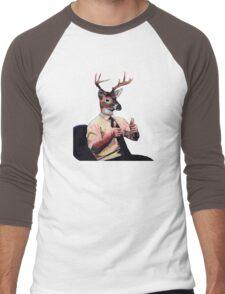 Deer Man, Thumbs Up Men's Baseball ¾ T-Shirt