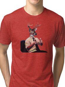Deer Man, Thumbs Up Tri-blend T-Shirt