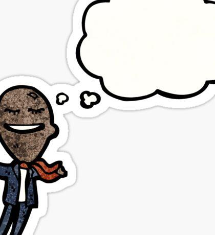 cartoon balloon head businessman Sticker