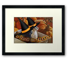 Halloween in a Box Framed Print